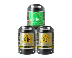 Fûts de bière - Assortiment 3 fûts 6L Leffe Blonde Leffe de Printemps