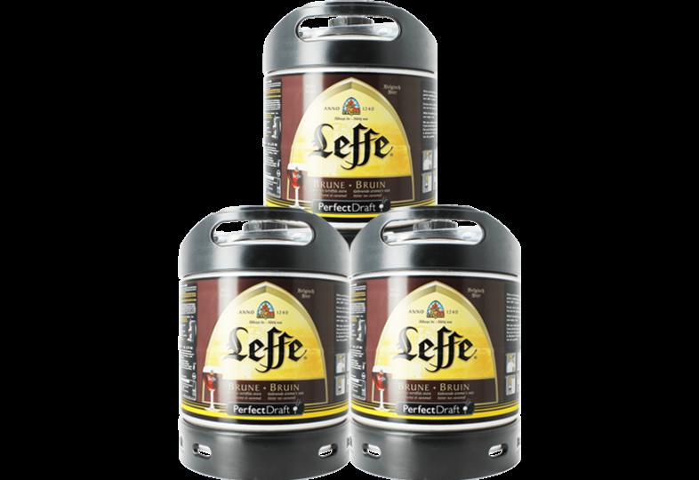 Fûts de bière - Pack 3 fûts 6L Leffe Brune