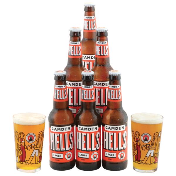 Pack Camden 6 birre e 2 bicchieri