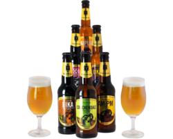 Cadeaus en accessoires - Pack Thornbridge 6 biertjes en 2 glazen