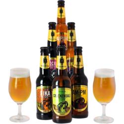 Accessoires et cadeaux - Pack Thornbridge 6 bières et 2 verres