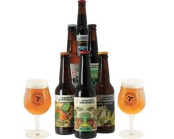 """Regalos y accesorios - Colección """"Tempest"""" - 6 cervezas y 2 vasos"""