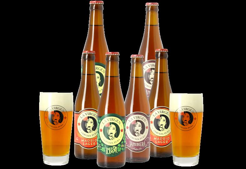 Accessoires et cadeaux - Pack La Virgen - 6 bières et 2 verres