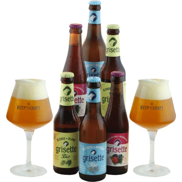 Cofanetto Grisette 6 birre e 2 bicchieri