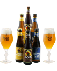 Accessoires et cadeaux - Pack Brugge 6 bières et 2 verres