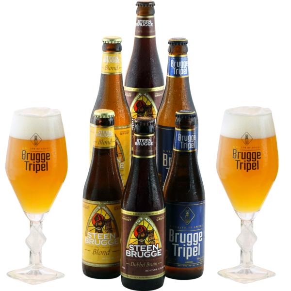Pack Brugge 6 birre e 2 bicchieri