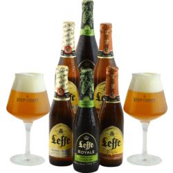 Accessoires et cadeaux - Pack Leffe 6 bières et 2 verres