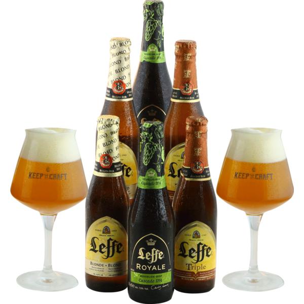 Leffe Pack - 6 birre e 2 bicchieri