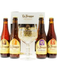 Coffrets et cadeaux - Coffret La Trappe (4 bières 1 verre)