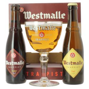 Coffret Westmalle (2 bières 1 verre)
