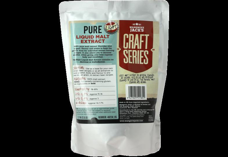 Extrait de malt - Extrait de malt liquide Mangrove Jack's pure light 1,2kg