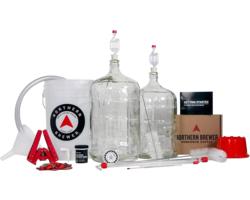 Bouteilles - Kit de démarrage Northern Brewer Deluxe en verre, vendu avec la recette de bière Chinook IPA (extrait et grains de trempage).
