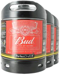 Fûts de bière - Pack 3 fûts 6L Bud