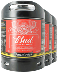 Fusti di birra - Fusto Budweiser Bud PerfectDraft 6-litri - 3-Pack