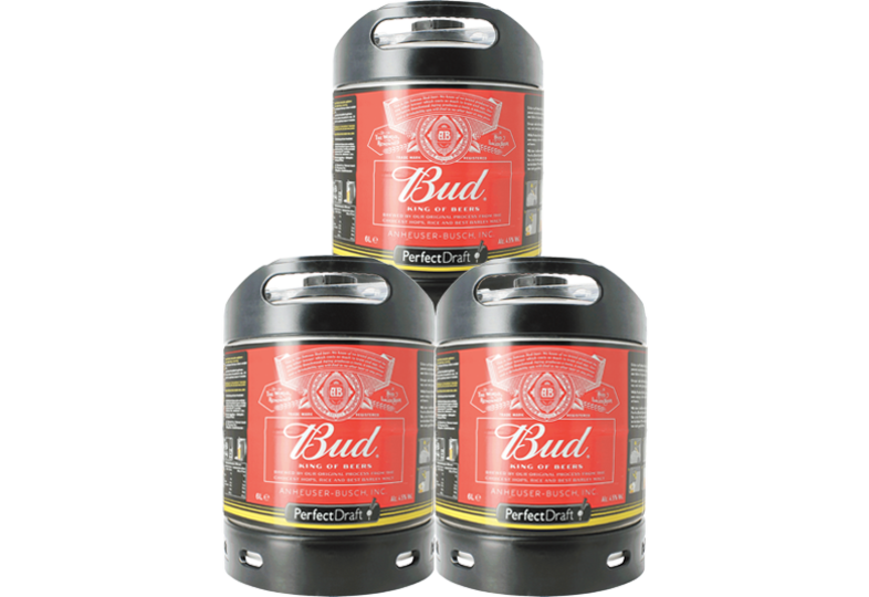 Tapvaten - Budweiser Bud PerfectDraft 6-litro Tapvaatje - 3-Pack