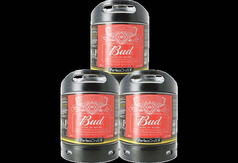 Kegs - Budweiser Bud PerfectDraft 6-liter Keg - 3-Pack