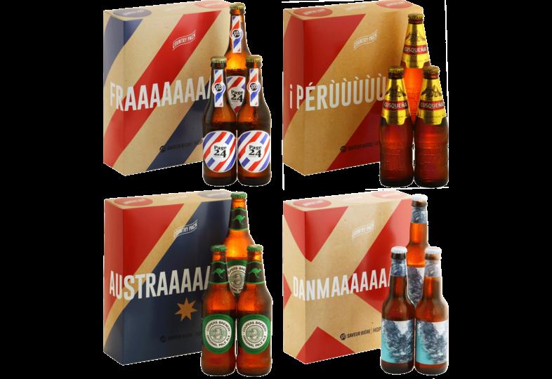 Coffrets Saveur Bière - Country Pack x4 Phase de Poule