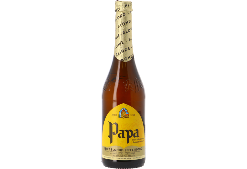 Bottled beer - Leffe Blond Papa - Father's Day Limited Edition