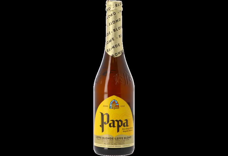 Flessen - Leffe Blond Papa 75cl - Cadeau voor Vaders