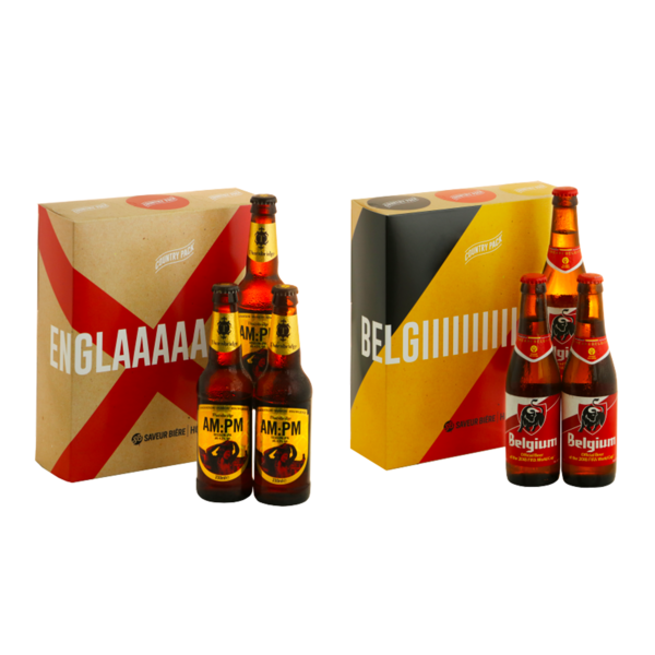 Country pack x2 Angleterre - Belgique