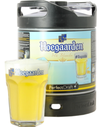 Fûts de bière - Fût 6L Hoegaarden + 1 verre de 33 cl