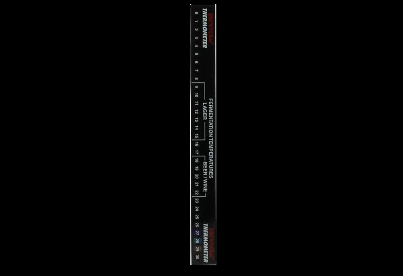 Brouwbenodigdheden - Thermomètre à cristaux liquides Brewferm 0-30°C