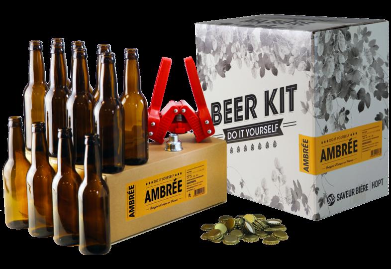 Thuisbrouwpakket - Brouwpakket, Beerkit Amber bier (XL) + Navulling en Bottelset