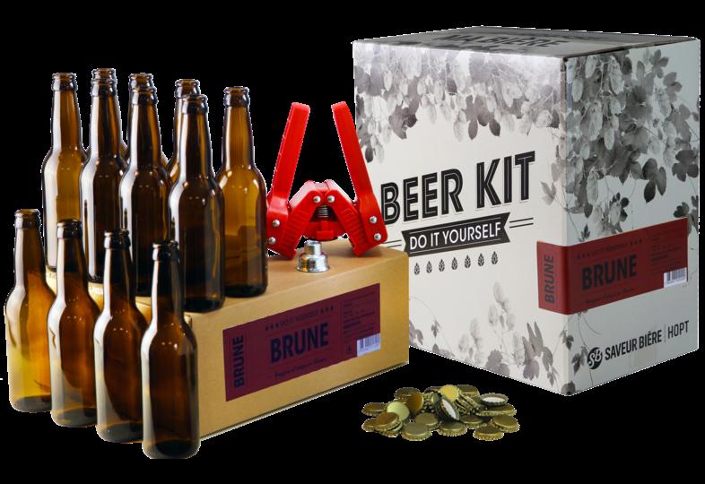 Beer Kit - Brew Your Own Beer Kit - Belgian Brune + Refilll & Bottling Kit