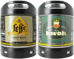 Bier Tapvatjes - Leffe Blonde & Kwak PerfectDraft Tapvaatje - 2-Pack