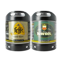Fûts de bière - Pack 2 fûts 6L : Leffe Blonde/Kwak