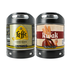Fatöl - PerfectDraft Ölfat 2-Pack - 1 fat 6-liter Leffe Blonde + 1 Kwak