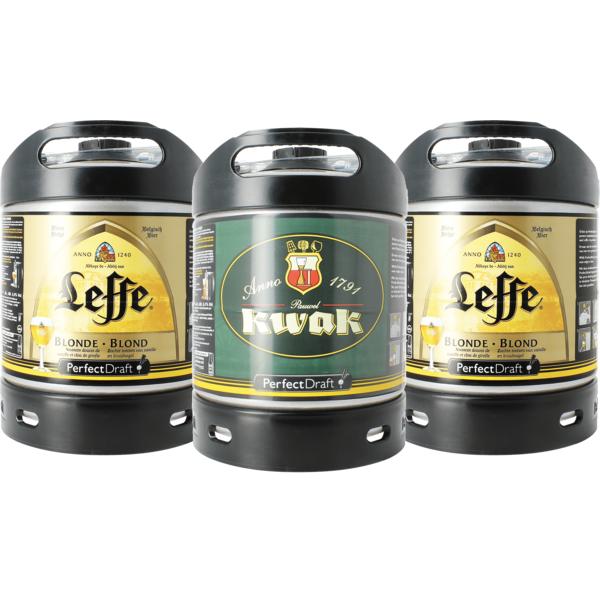 Assortiment 2 kegs  6L Leffe Blonde - 1 fût Kwak