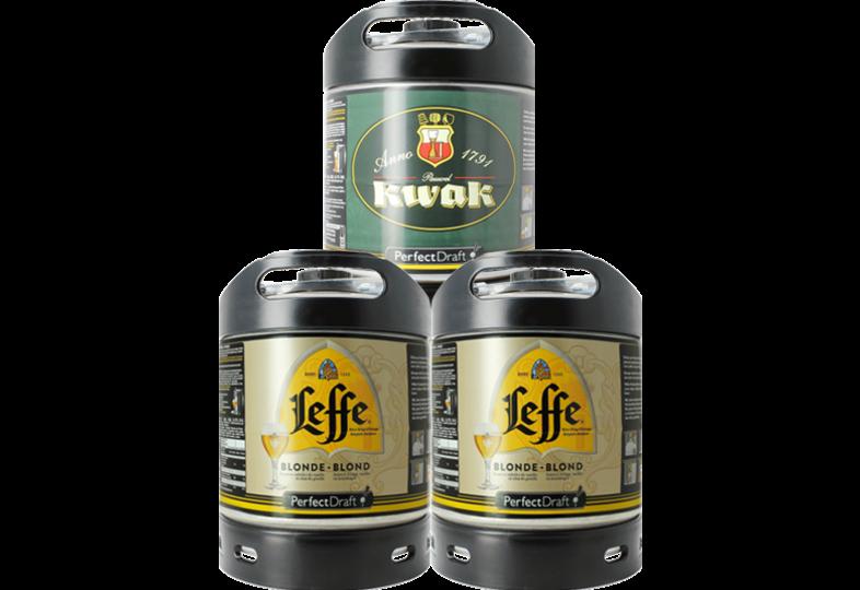 Kegs - Leffe Blonde & Kwak PerfectDraft Keg - 3-Pack