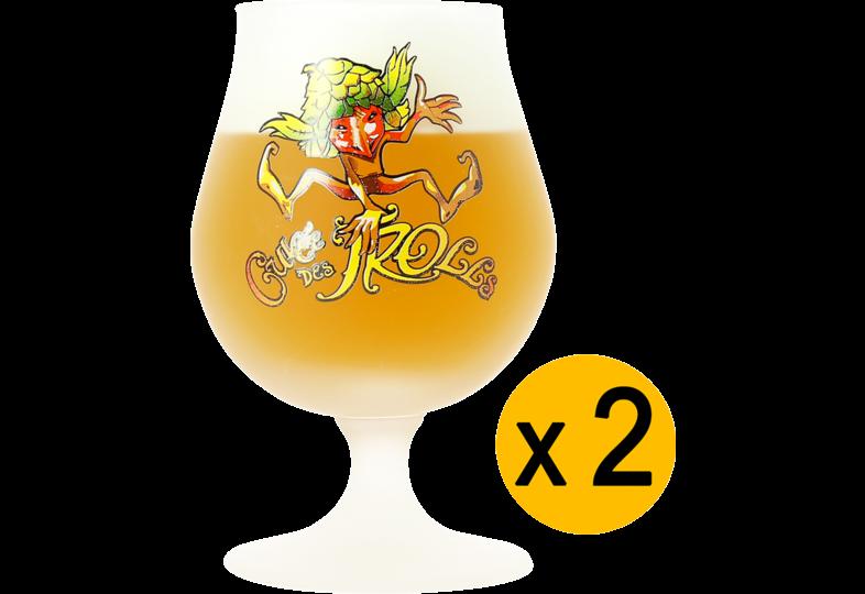 Verres à bière - Pack 2 Verres Cuvée des Trolls - 25 cl