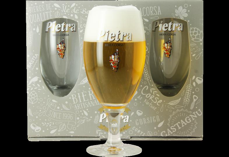 Botellas - Pietra regalo 3 vasos cerveza