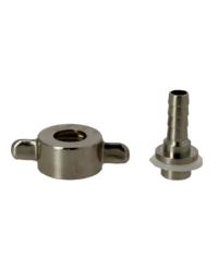 Accessori per la birrificazione - Porte-tuyau 7mm cannelure droite avec écrou à oreilles