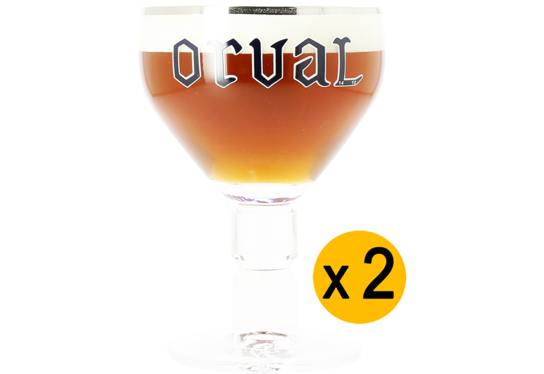 Beer glasses - 2 Orval 33cl glasses