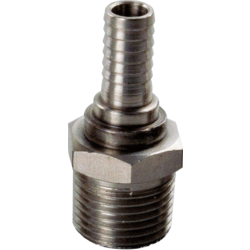 """Brewing Accessories - Male Stainless 1/2"""" NPT x 3/8"""" Barb"""