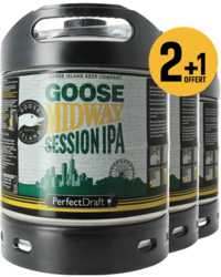 Kegs - Goose Midway Session IPA PerfectDraft 6-litre Keg - 3-Pack