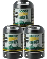 Fûts de bière - Pack 3 fûts 6L Goose Midway Session IPA