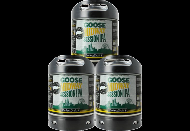 Fûts de bière - Pack 3 Fûts 6L de Goose Midway Session IPA