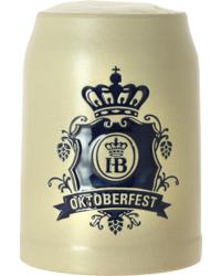 Verres à bière - Chope en grès Höfbrau Oktoberfest - 50 cl