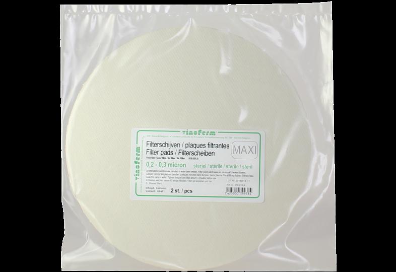 """Accessoires du brasseur - 2 filtre-plaques """"stérile"""" - Vinoferm pour filtre à pression 11 L"""