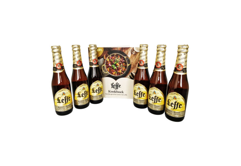 Cadeaus en accessoires - Leffe Blonde x 6 + GRATIS Leffe Kookboek!