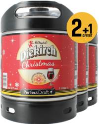 Fûts de bière - Pack 3 fûts 6L Diekirch de Noël