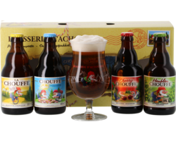 Gift box with beer and glass - Coffret Chouffe Pack Découverte