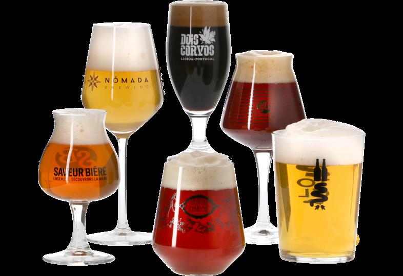 Biergläser - Pack 6 verres originaux