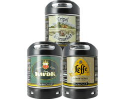 Fatöl - Leffe Blonde - Kwak - Tripel Karmeliet 6L PerfectDraft Fat 3-Pack