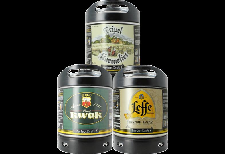 Bier Tapvatjes - Leffe Blond - Kwak - Tripel Karmeliet PerfectDraft Vat - 3x6L