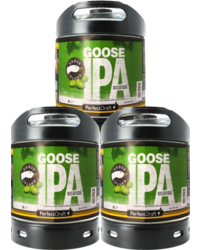 Fûts de bière - Pack 3 fûts 6L Goose Island IPA